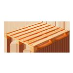 Новые деревянные поддоны